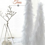 Wintery Snow Feather Christmas Trees